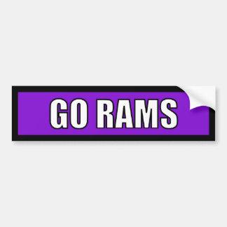 Rams - Black Purple White Bumper Stickers