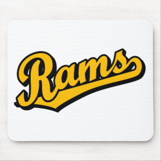 Rams in Orange Mouse Pad