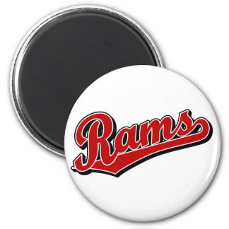 Rams in Red 6 Cm Round Magnet