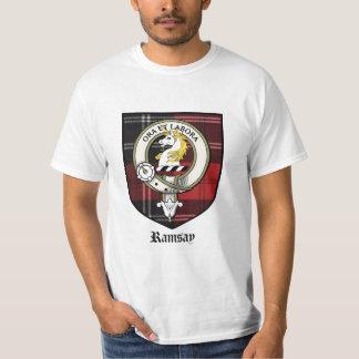 Ramsay Clan Crest Badge Tartan Tees