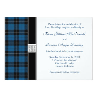 Ramsay Hunting Tartan Celtic Wedding Invitation