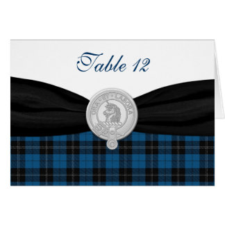 Ramsay Hunting Tartan Special Occasion Table Card