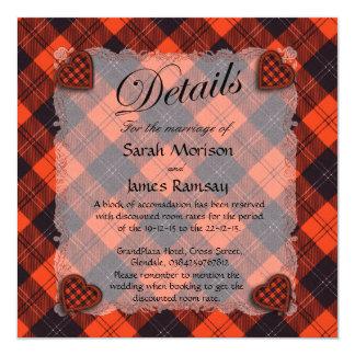 Ramsay Scottish clan tartan - Plaid - Strong 5.25x5.25 Square Paper Invitation Card