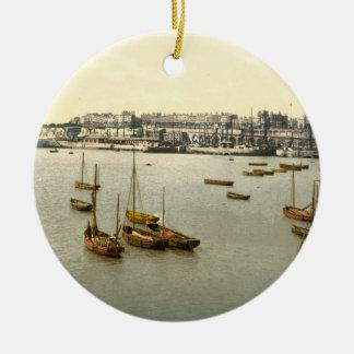 Ramsgate Harbour I, Kent, England Christmas Ornament