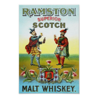 Ramston Superior Scotch Vintage Poster