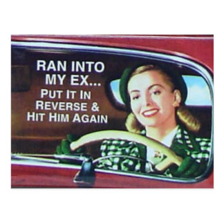 Ran Into My Ex Postcard
