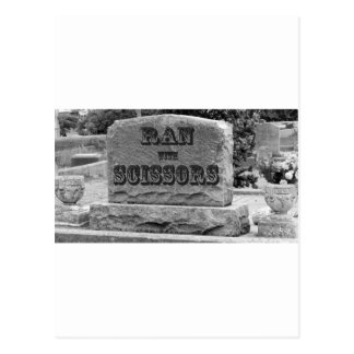 Ran with Scissors Tombstone Postcards