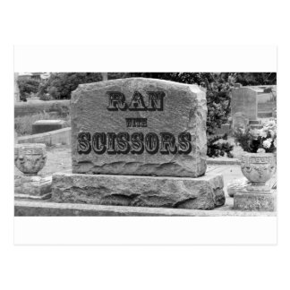 Ran with Scissors Tombstone Postcard