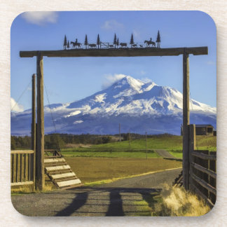 RANCH VIEW OF SHASTA DRINK COASTERS