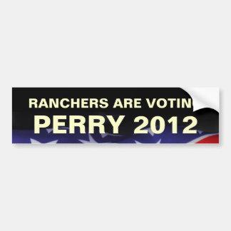 Ranchers Are Voting PERRY 2012 Bumper Sticker Car Bumper Sticker