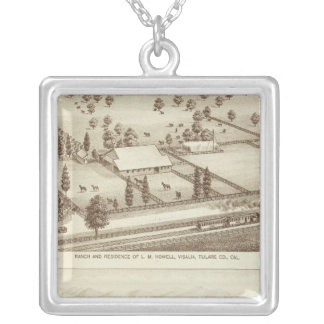 Ranches, Visalia, Cal Silver Plated Necklace