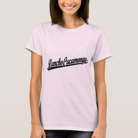 Rancho Cucamonga script logo in black T-Shirt