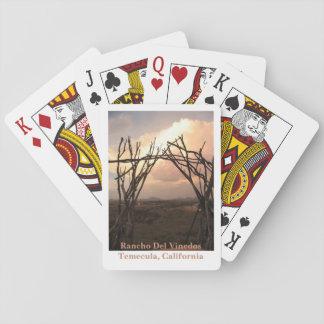 Rancho Del Vinedos Temecula CA Arch deck of cards
