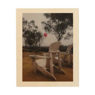 Rancho Del Vinedos Temecula, CA balloon view Wood Print