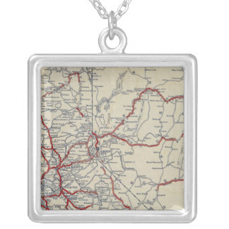 Rand McNally Junior Road Map California and Nevada Silver Plated Necklace