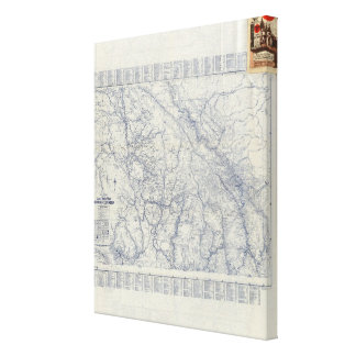 Rand McNally Official 1925 Auto Trails Map 2 Canvas Print