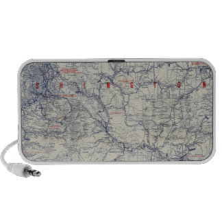 Rand McNally Official 1925 Auto Trails Map Laptop Speaker