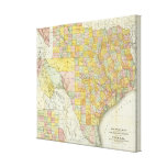 Rand McNally Railroad And County Map Of Texas Canvas Print