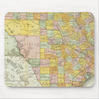 Rand McNally Railroad And County Map Of Texas Mouse Mat