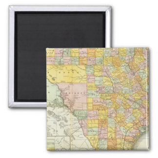 Rand McNally Railroad And County Map Of Texas Square Magnet