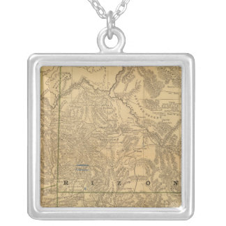 Rand McNally's Arizona Silver Plated Necklace