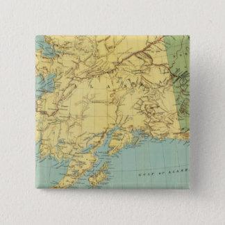 Rand McNally's Map Of Alaska 15 Cm Square Badge