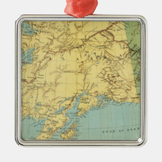 Rand McNally's Map Of Alaska Christmas Ornament