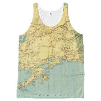 Rand McNally's Map Of Alaska All-Over Print Tank Top