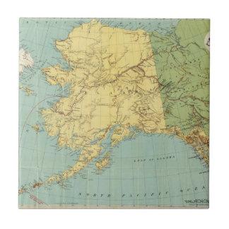 Rand McNally's Map Of Alaska Tile