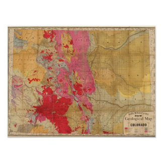 Rand McNally's new geological map Poster