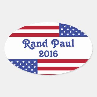 Rand Paul 2016-American Flag Oval Sticker