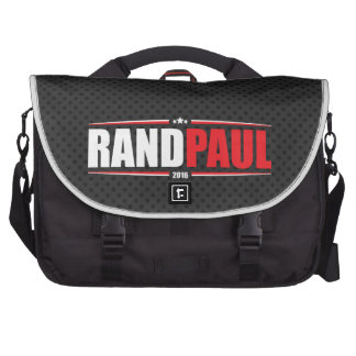 Rand Paul 2016 Stars Stripes - Black Laptop Bags