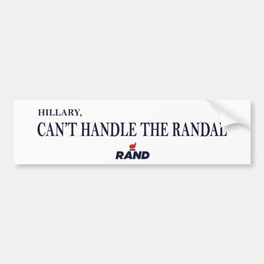 Rand Paul beats Hillary 2016 Bumper Sticker