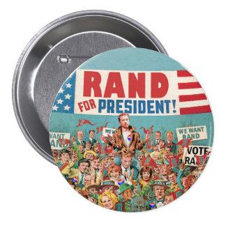 Rand Paul for President 2016 7.5 Cm Round Badge