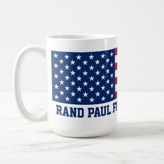 Rand Paul for President 2016 American Flag Basic White Mug