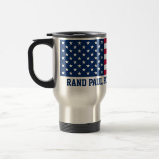 Rand Paul for President 2016 American Flag Stainless Steel Travel Mug