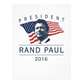 """Rand Paul for president 8.5"""" X 11"""" Flyer"""