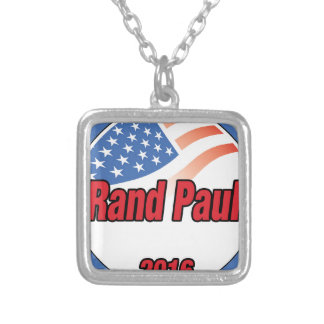 Rand Paul for President in 2016 Square Pendant Necklace