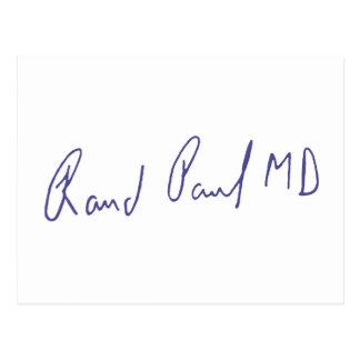 Rand Paul MD Signature Autograph Postcards