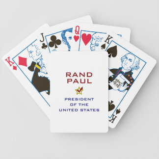 Rand Paul President USA V2 Bicycle Playing Cards