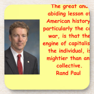 rand,paul,quote,quotation,for+president,gop,republ beverage coasters