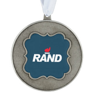 RAND SCALLOPED PEWTER ORNAMENT