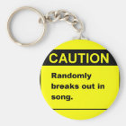 Randmon Song Key Ring