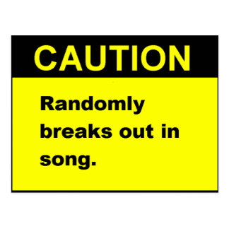 Randmon Song Postcard