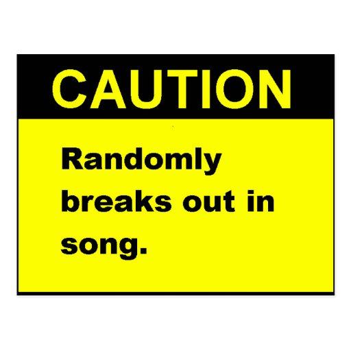 Randmon Song Post Card