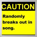Randmon Song Poster