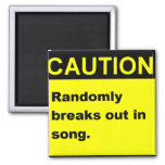 Randmon Song Refrigerator Magnets