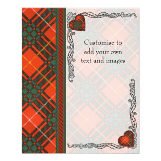 Randolph clan Plaid Scottish kilt tartan 11.5 Cm X 14 Cm Flyer