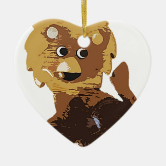 Randolph The Lion Ceramic Heart Decoration