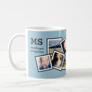 Random 10 Instagram Photo Collage Personalized Basic White Mug